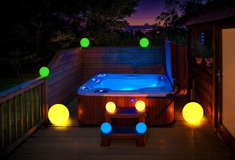 loftek decorative led rgb light ball for outdoor bath decor ideas