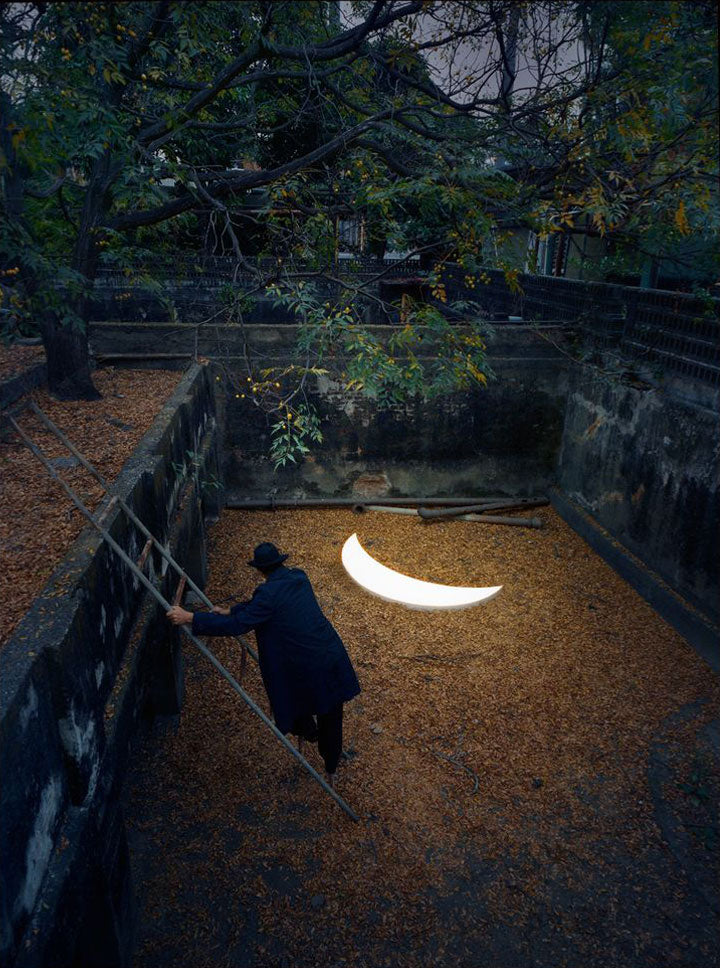 Leonid Tishkov With His Private Moon