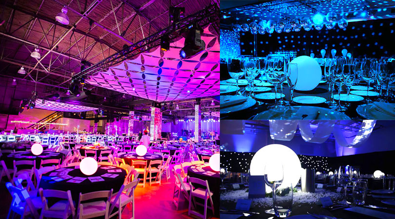 loftek glow ball as an eye-cathing centerpiece for party wedding gala event