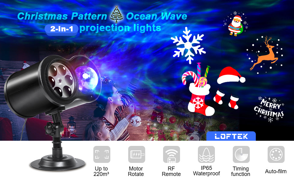 $29.99 (reg $45) Loftek LED Binocular Rotating Christmas Projector