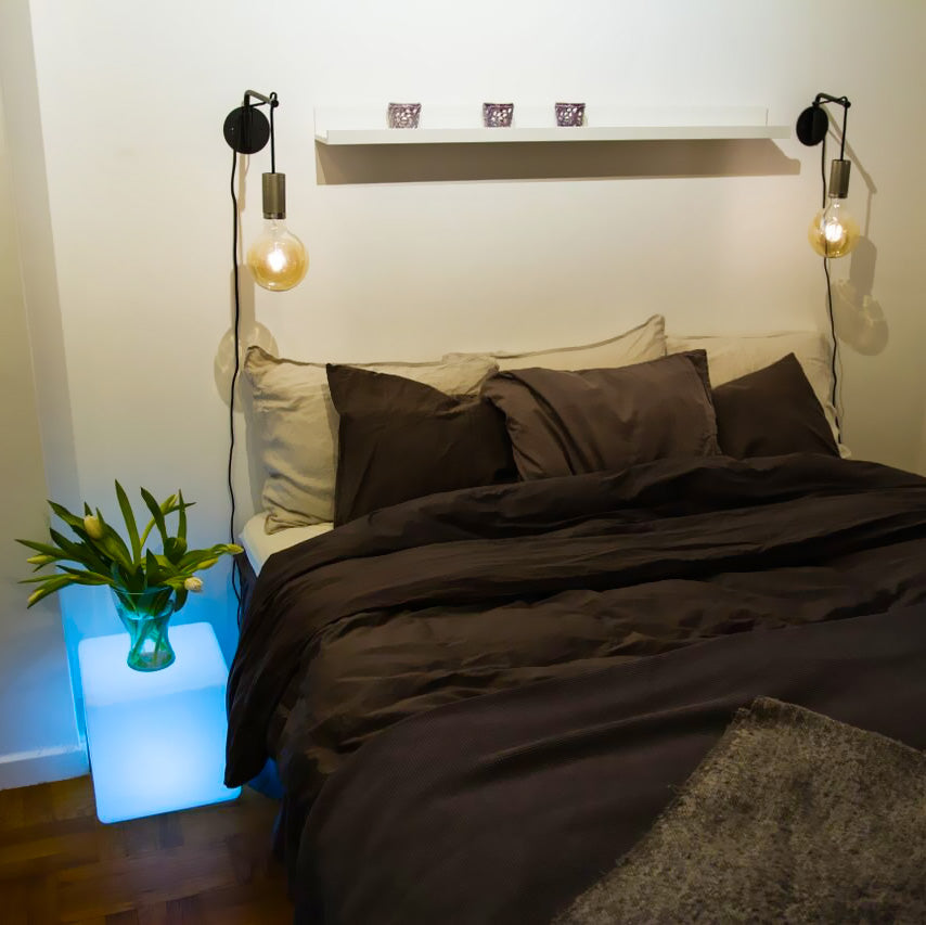 bedroom bedside led light table