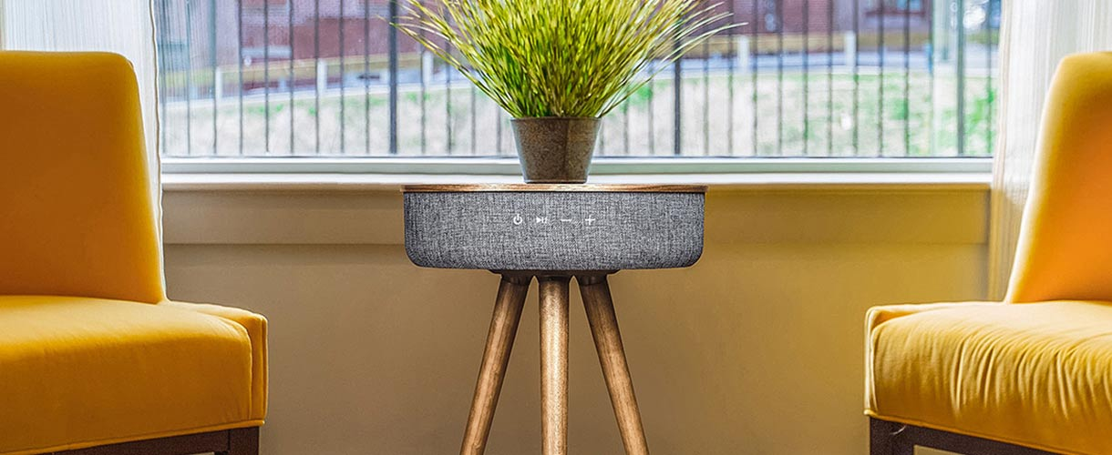 loftek bluetooth speaker table