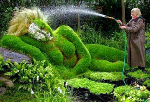 creative gardening artwork