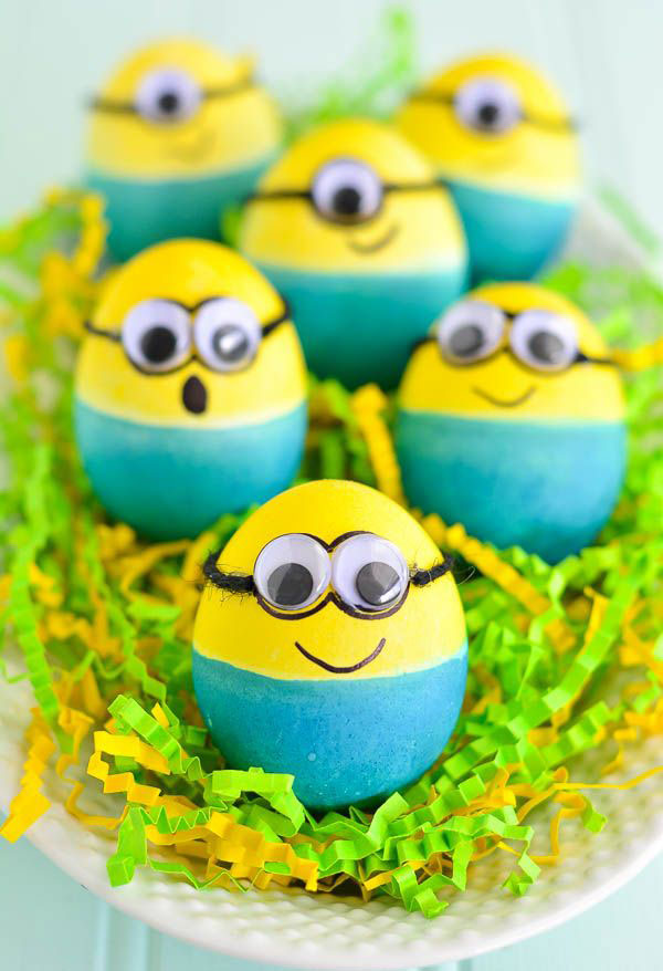 Minions creative easter egg DIY decorating design ideas 2019