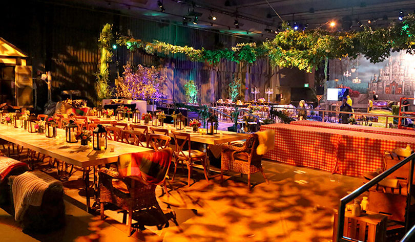 Natural Elements for indoor event party planning