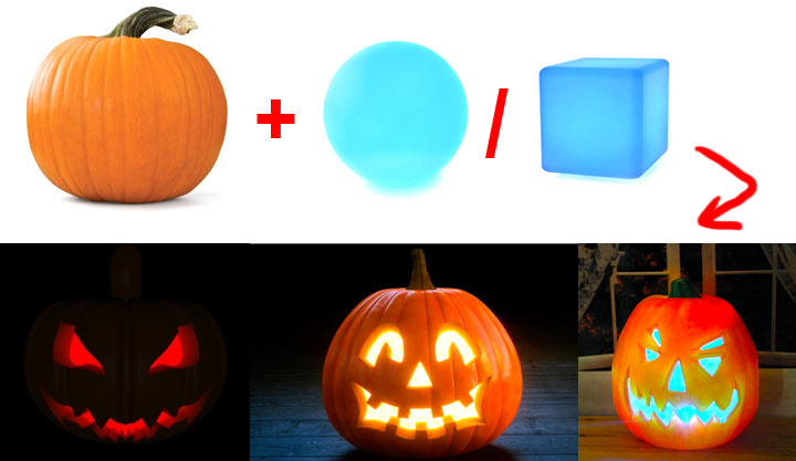 how to make a halloween pumkin lantern by loftek led glow mood lamp