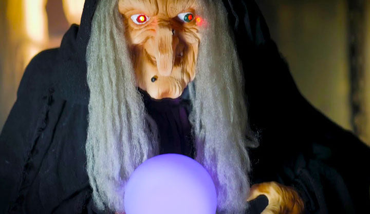 halloween costume witch with loftek led glow ball