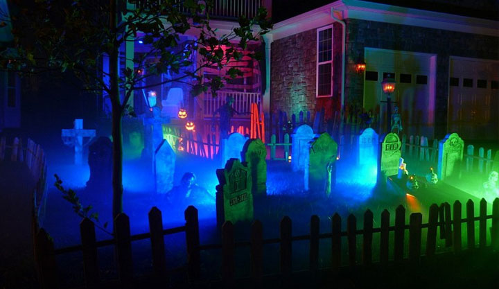 halloween party decoration ideas frontyard cemetery