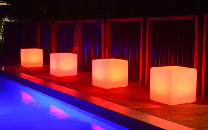 led cube seat lamp for outdoor dinner party
