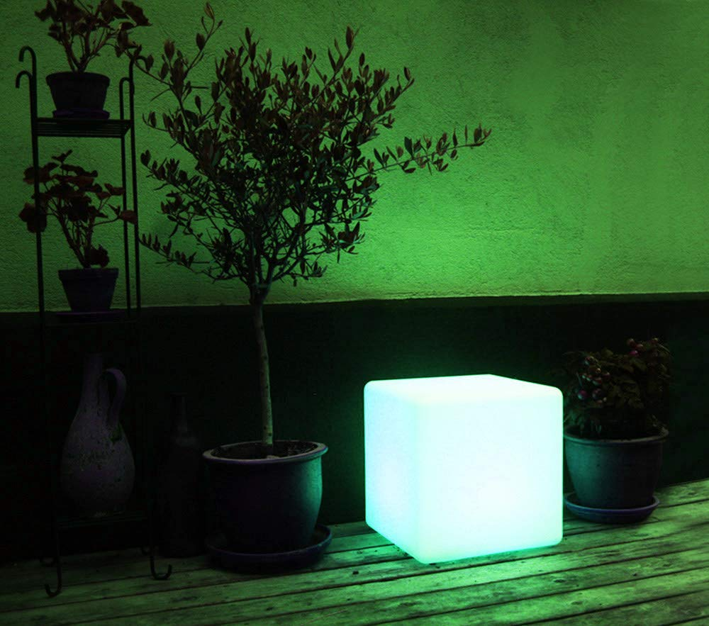 loftek led glowing cube light for garden