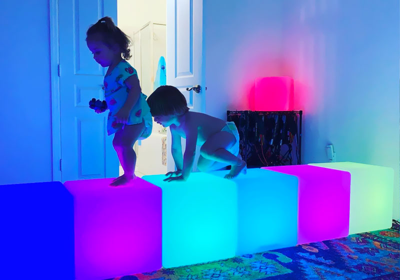 loftek led cube lamp light for kids room
