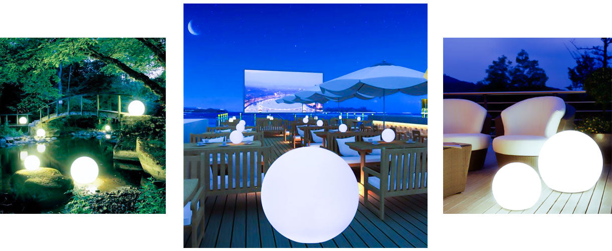 loftek led mood sphere for backyard