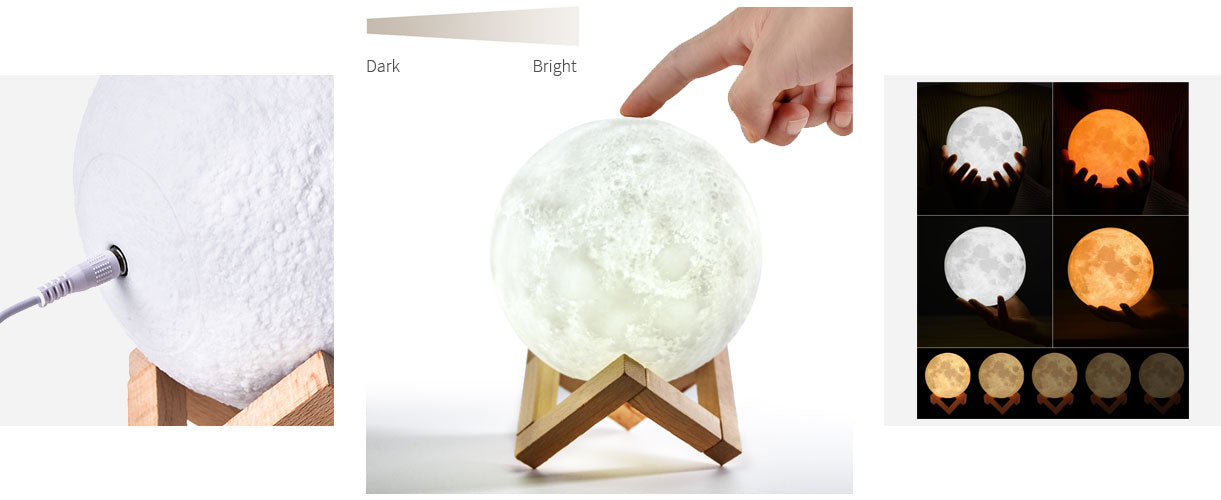 Printing Home 3d Moon LampRechargebleDimmable Night For Decor kPiOZuXT