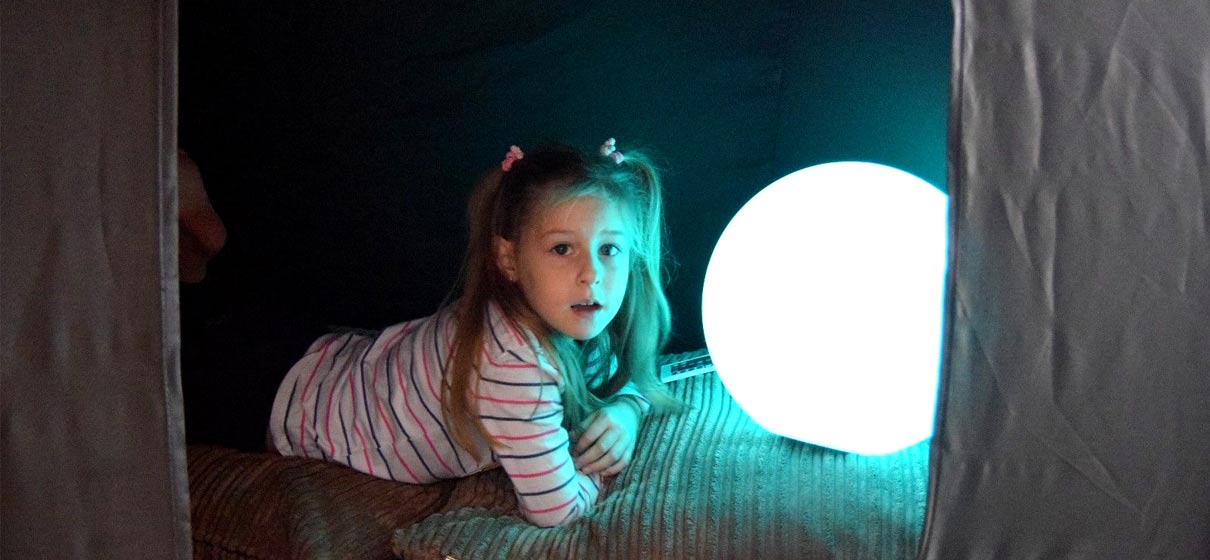 loftek led glow mood ball light for children sensory education