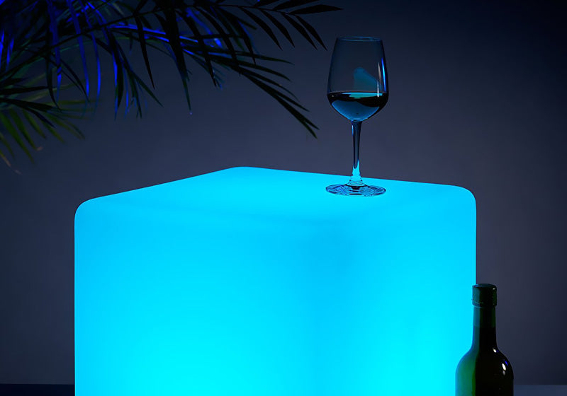 loftek led cube lamp light for backyard party