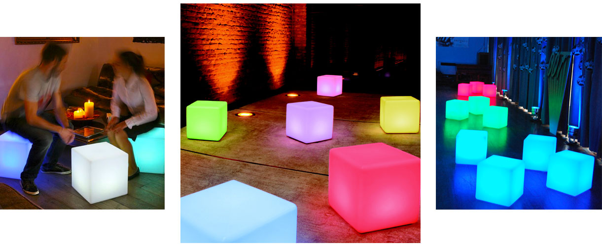 loftek led cube lamp for events