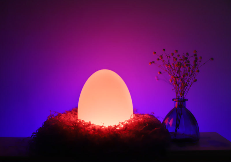 loftek led egg glow light for home decoration