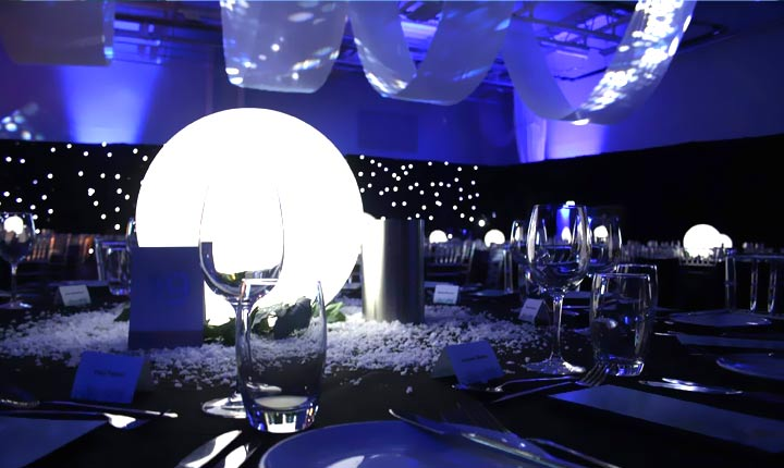 loftek led ball light for event tablesetting