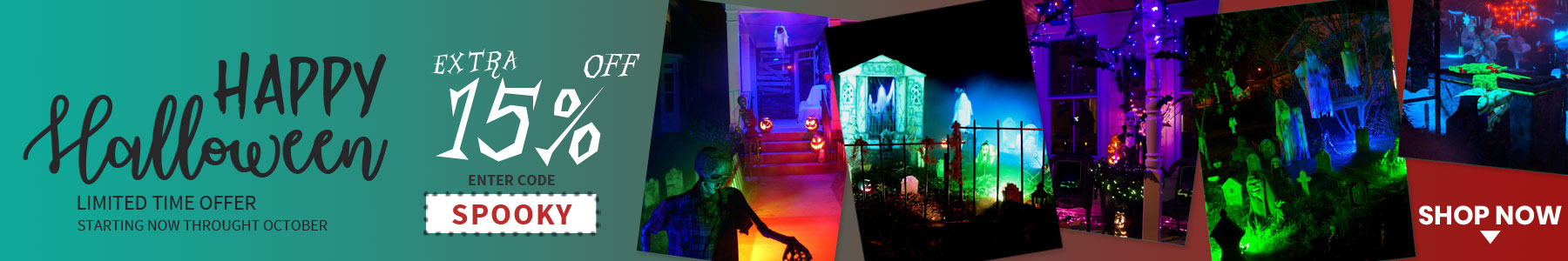 loftek floodlight Halloween sale