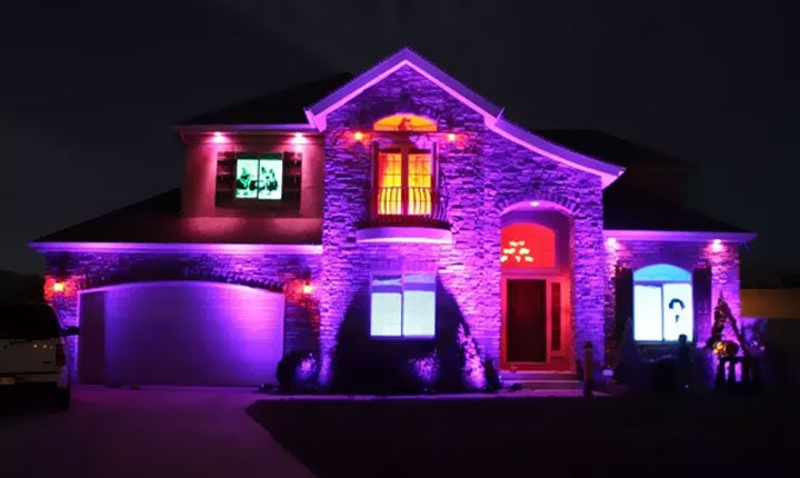 LOFTEK RGB Floodlight for House Holiday Outdoor Decor