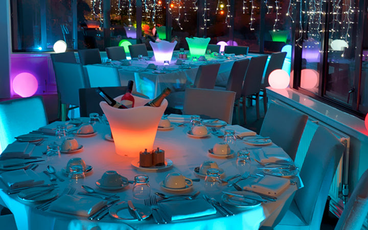led ice bucket glow lamp for dinner party