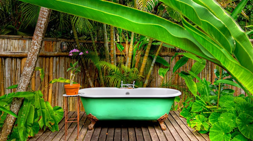 Outdoor baths decor ideas
