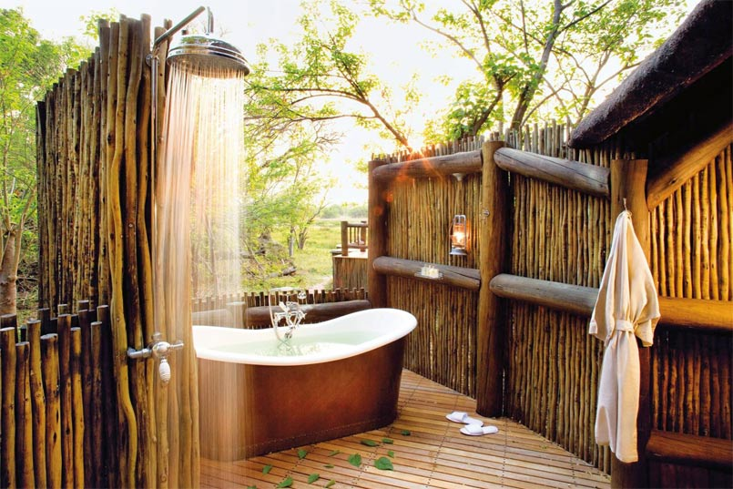 outdoor bath decor ideas