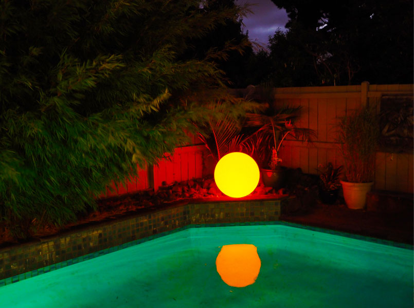loftek led poolside glow orb for outdoor pool decoration