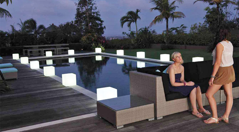 loftek led cube seat for swimming pool party
