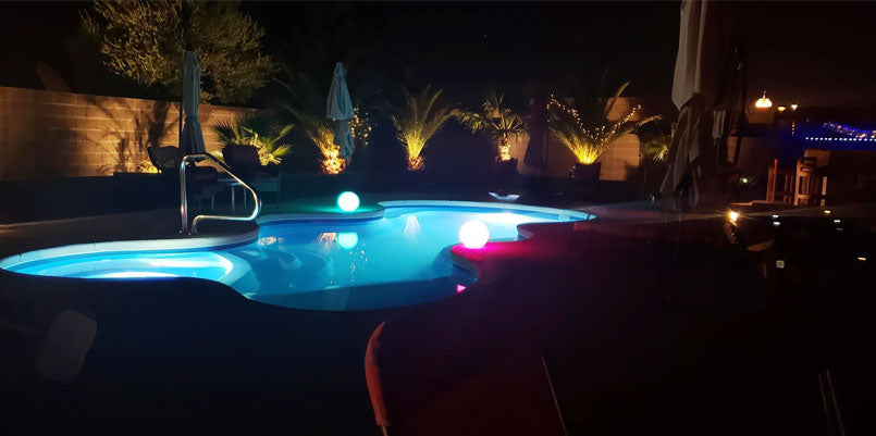 loftek led glowing floating pool orb for outdoor party