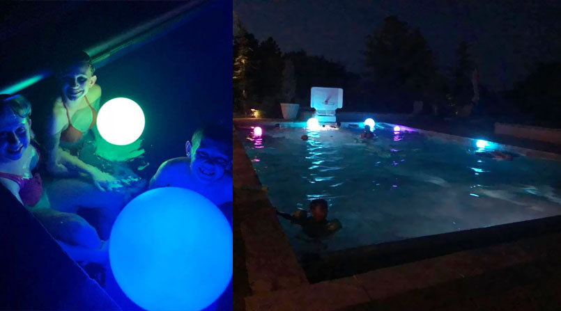 kids summer swimming pool toy floating led glow ball