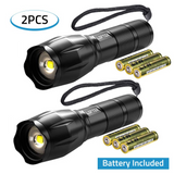 2-Pack Tracker - Adjustable Focus Pocket Sized Flashlight