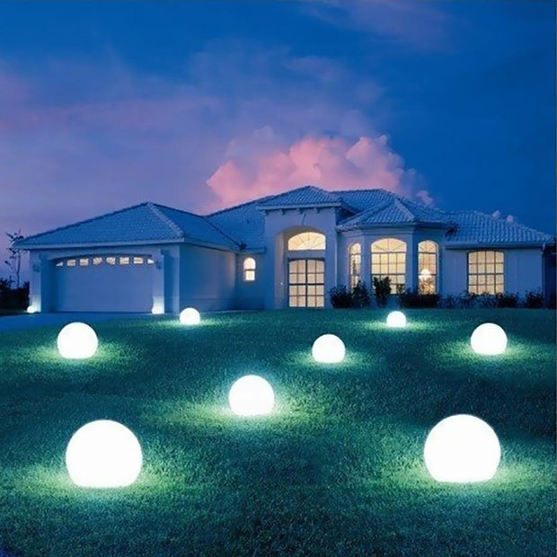 24-inch LED Ball Light for outdoor front yard decor