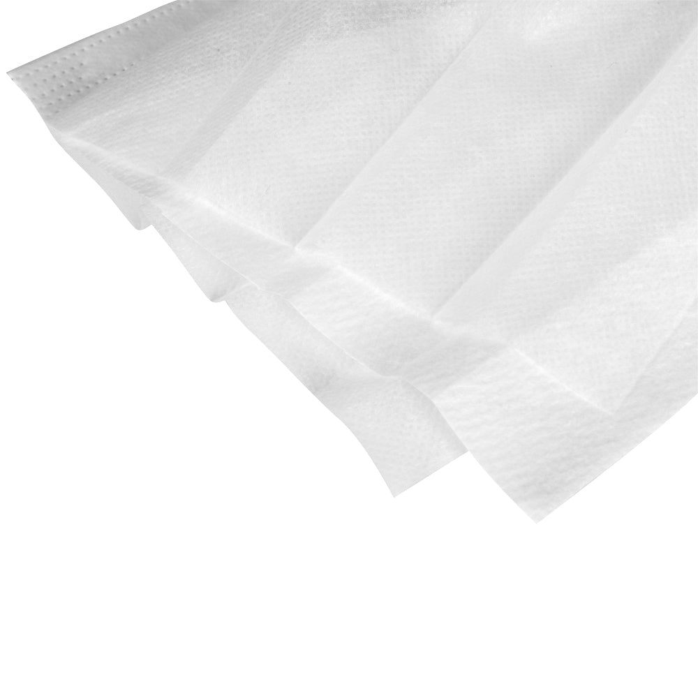 50pcs 3-Ply Disposable Face Mask with Widen Elastic Earloop White