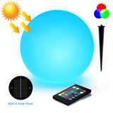 8-inch RGB LED Solar Ball Light