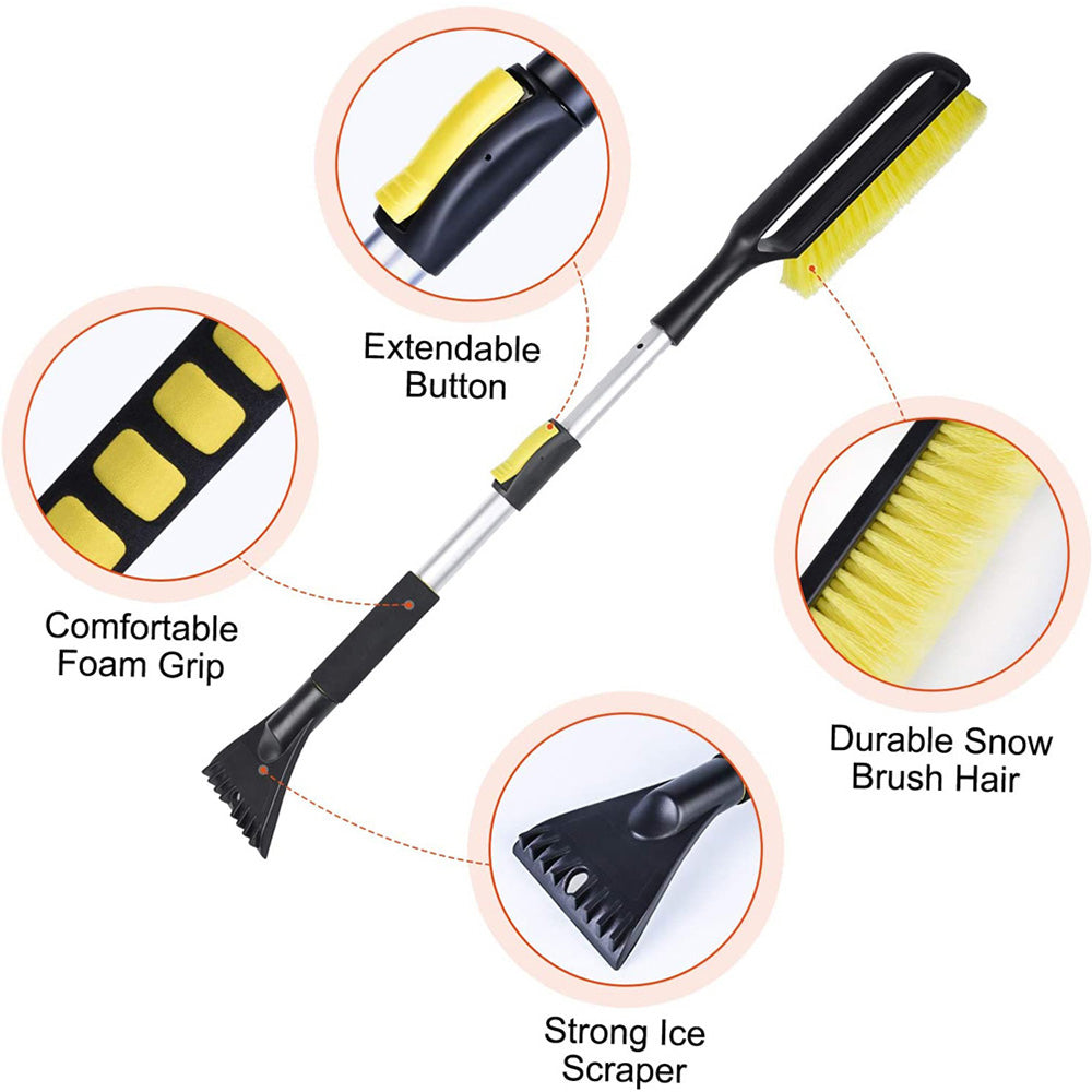 Extendable Car Snow Brush and Ice Scraper