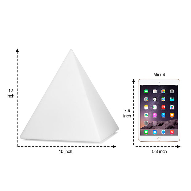 10-inch LED Mood Light in Pyramid Shape