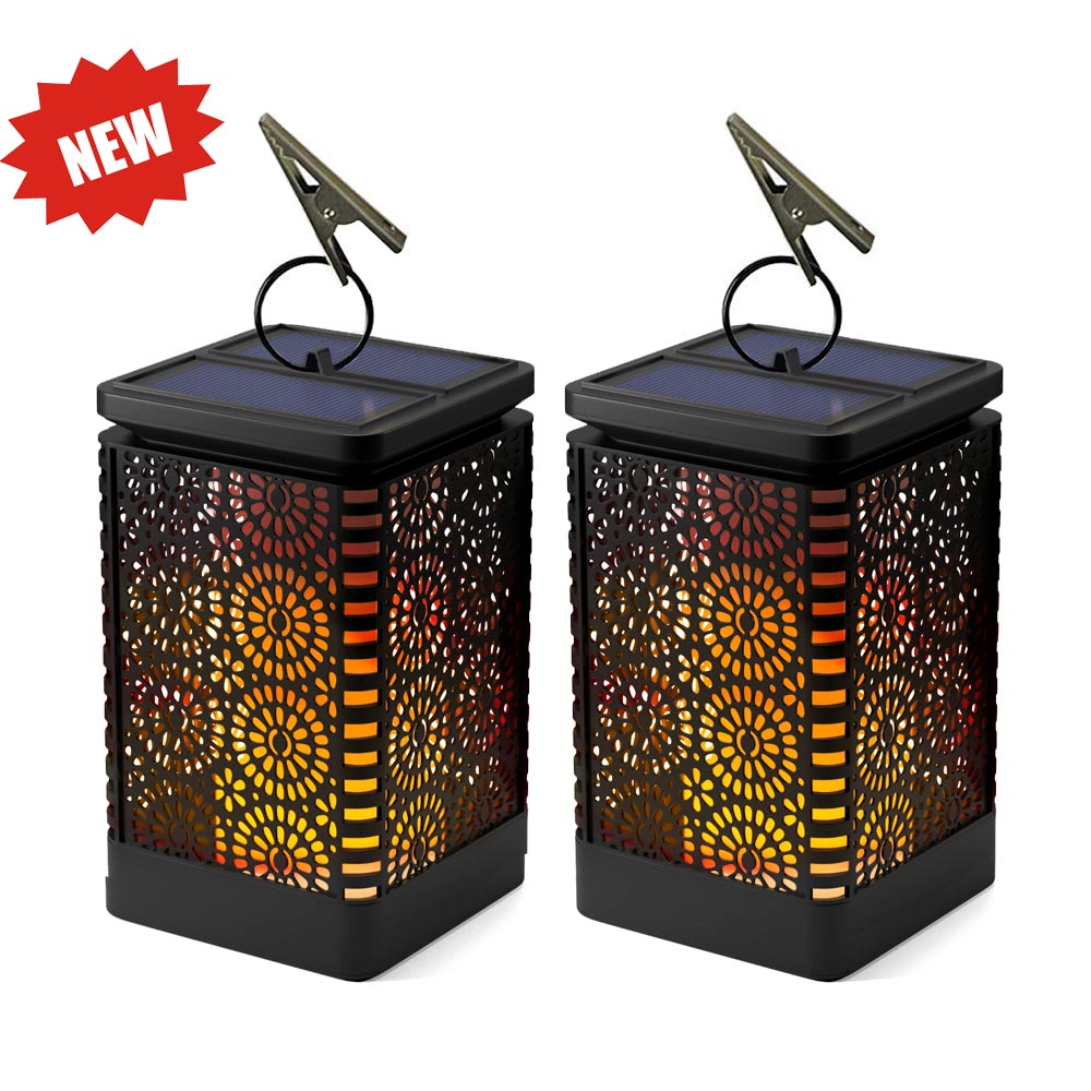 LOFTEK 2-Pack LED Solar Lantern for outdoor decor