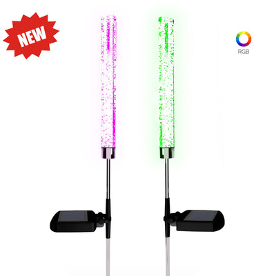 2-Pack RGB LED Stake Lights for backyard decor