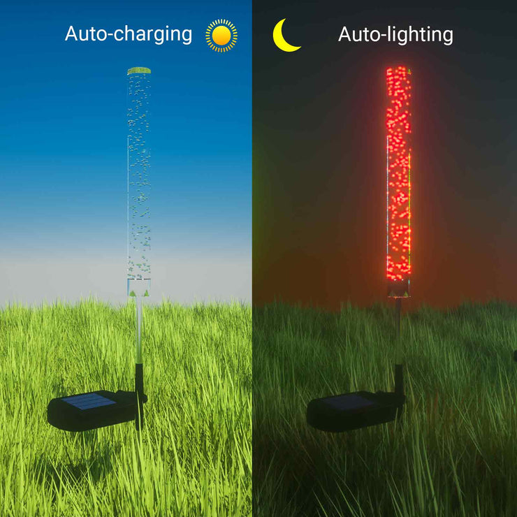 2-Pack RGB LED Stake Solar Lights
