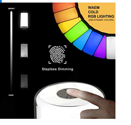 loftek LED RGB Touch Sensor Bedside Lamp