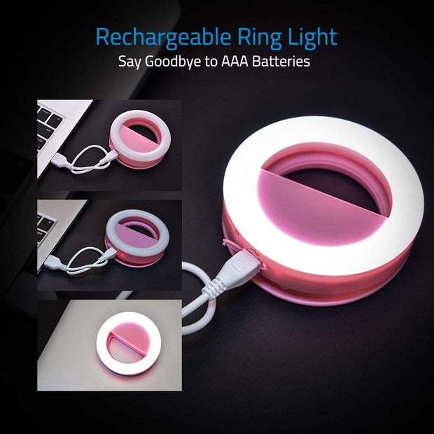LOFTEK Selfie Light Ring For All Smartphones, Tablets