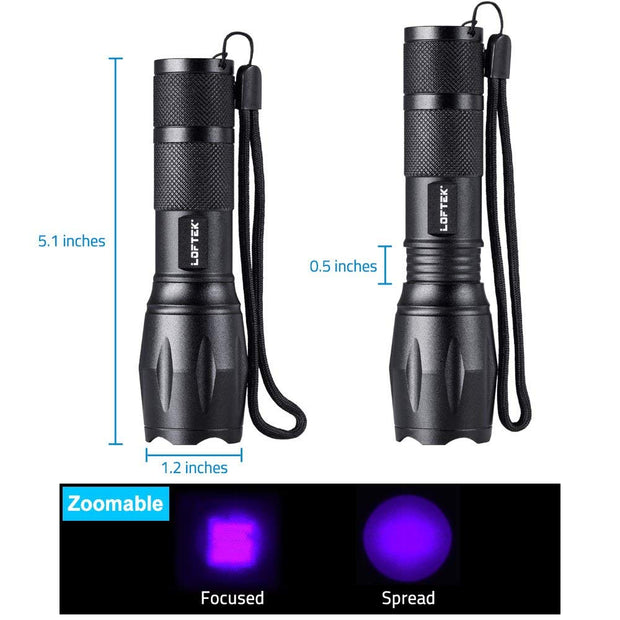 UV Tracker EVO - Adjustable Focus Pocket UV Flashlight