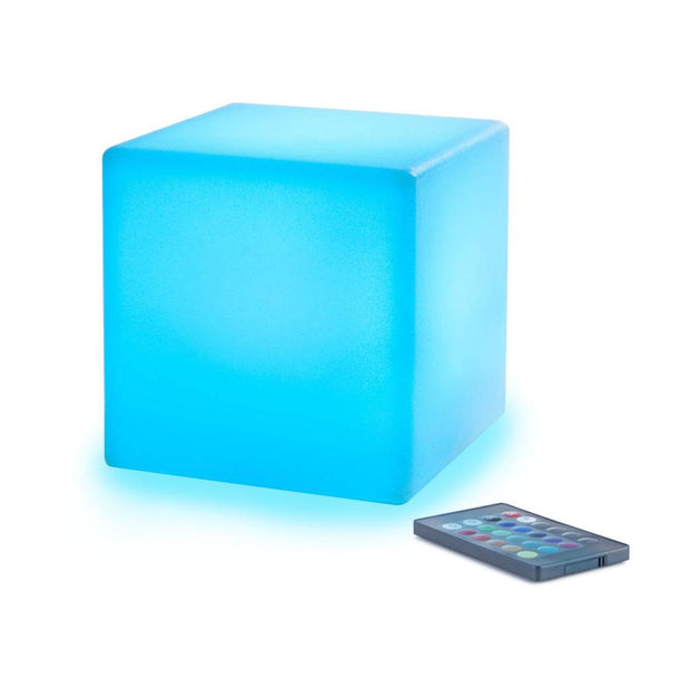 loftek led rgb 4-inch cube light with color changing