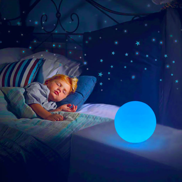 loftek led glow orb night light for kids room