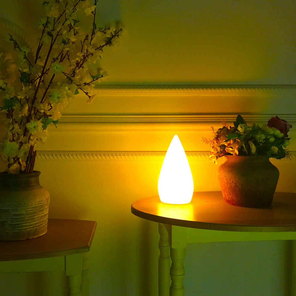 led candle mood lamp for table decoration