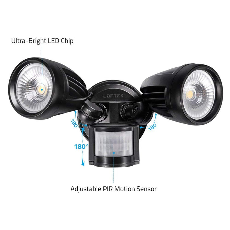 LOFTEK 26W Motion Sensor Security Flood Light