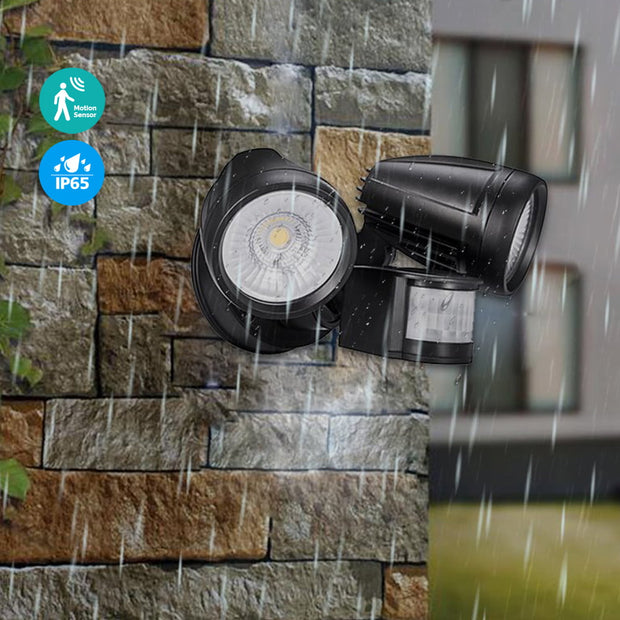 LOFTEK Motion Sensor Security Flood Light IP66 waterproof