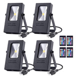 4-Pack Nova Mini 10W RGB LED Flood Light
