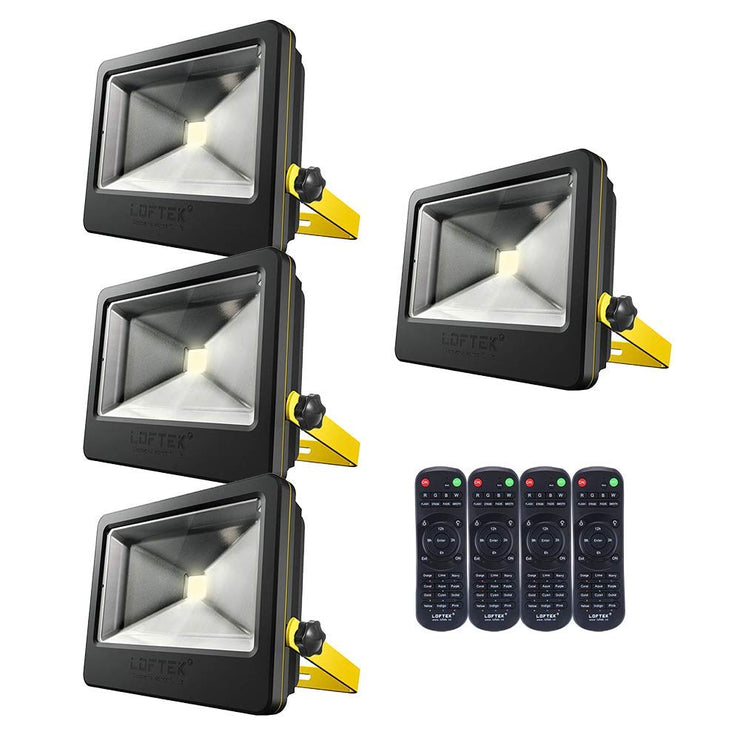 4-Pack Nova Plus 50W Timing RGB Flood Light